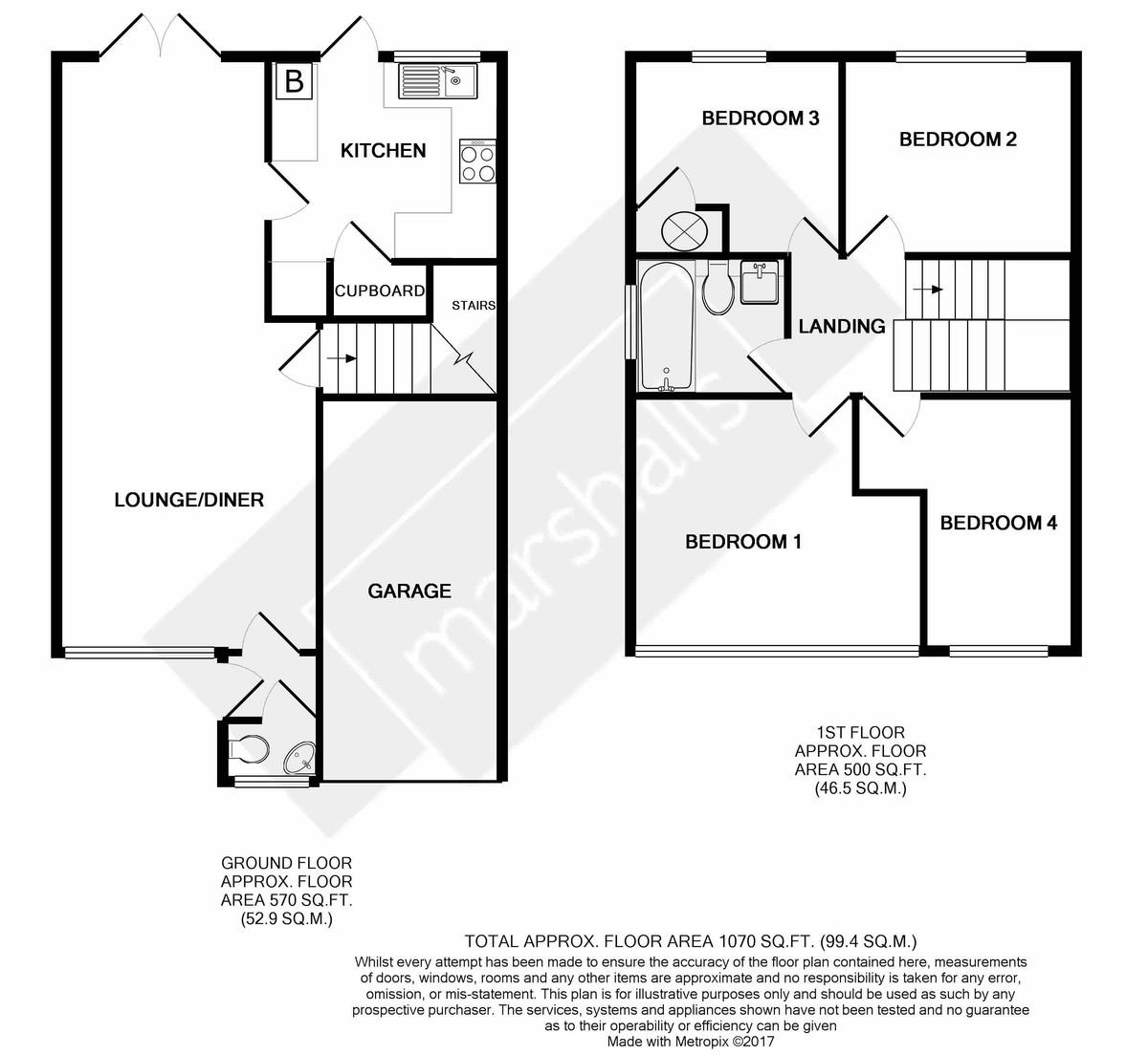 Milton Close, Royston Floorplan