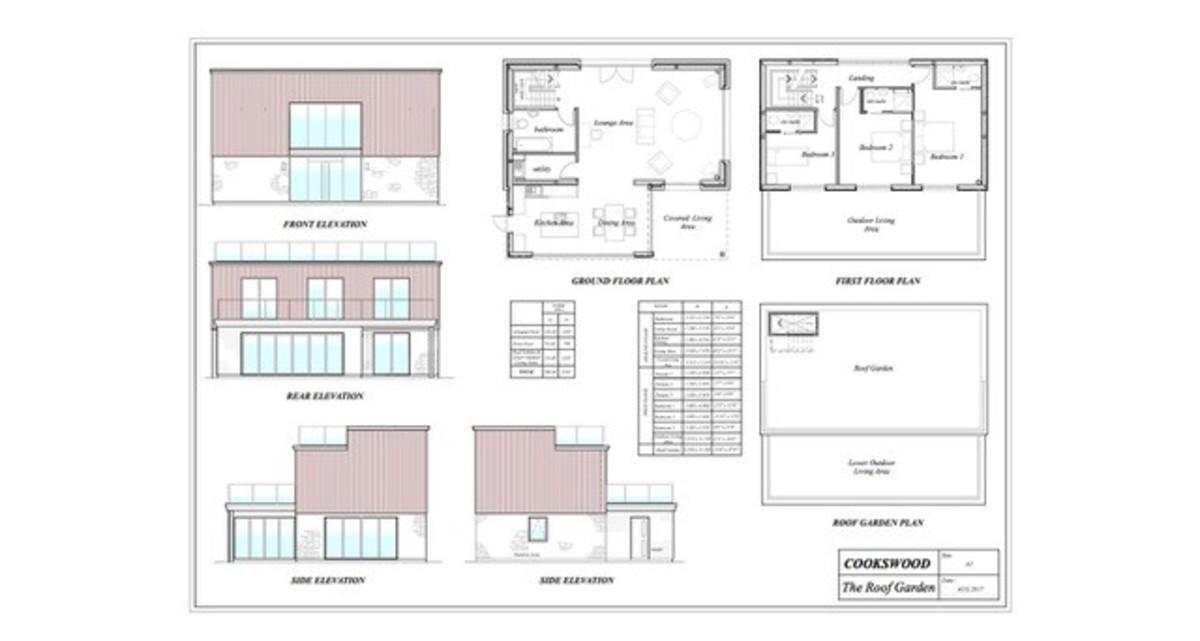 Roof Garden, Cookswood, Somerset Floorplan