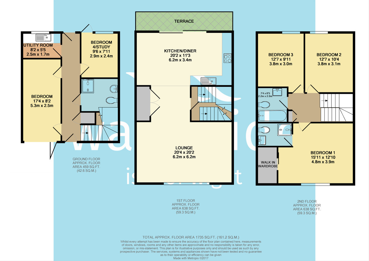 The Salterns, Yarmouth Floorplan