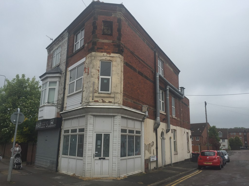 Retail outlet with A5 consent and 3 bed flat. All needing refurbishment.
