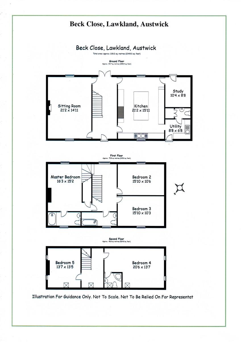 Beck Close, Lawkland, Austwick Floorplan