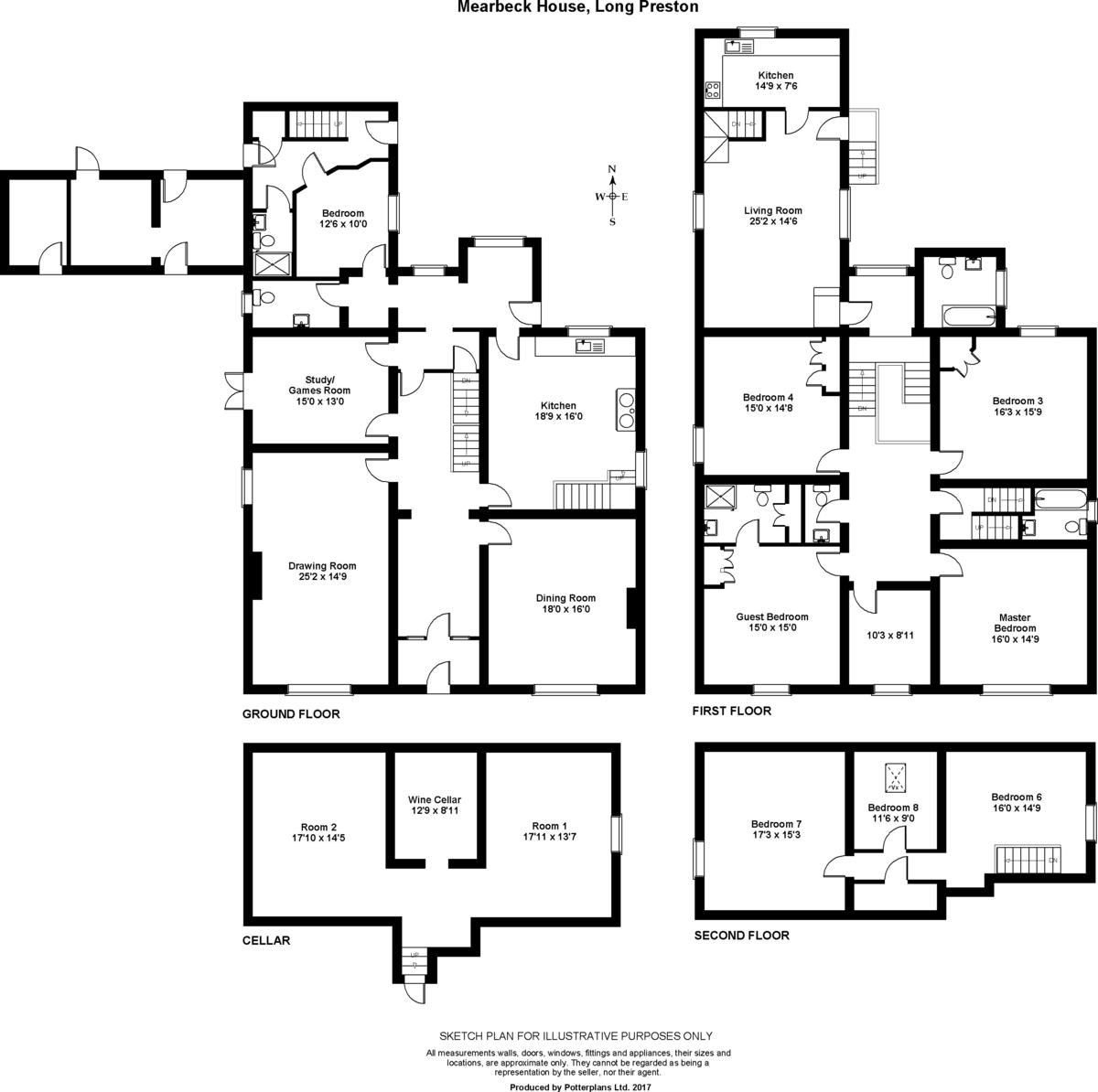 Mearbeck House, Long Preston Floorplan