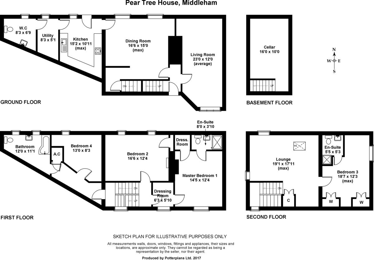 Pear Tree Cottage, Middleham Floorplan
