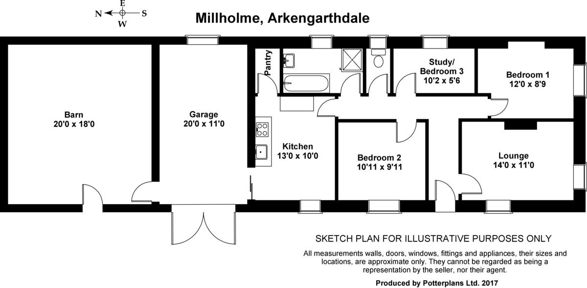 Millholme, Arkengarthdale Floorplan