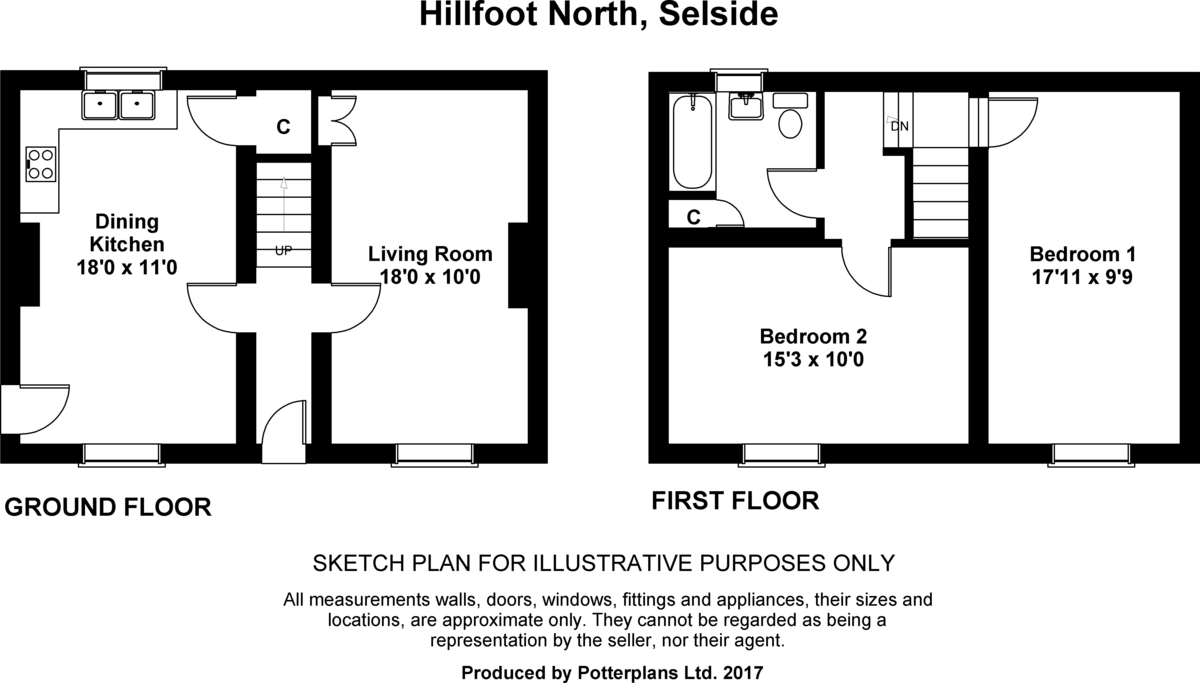 Hillfoot North, Selside Floorplan