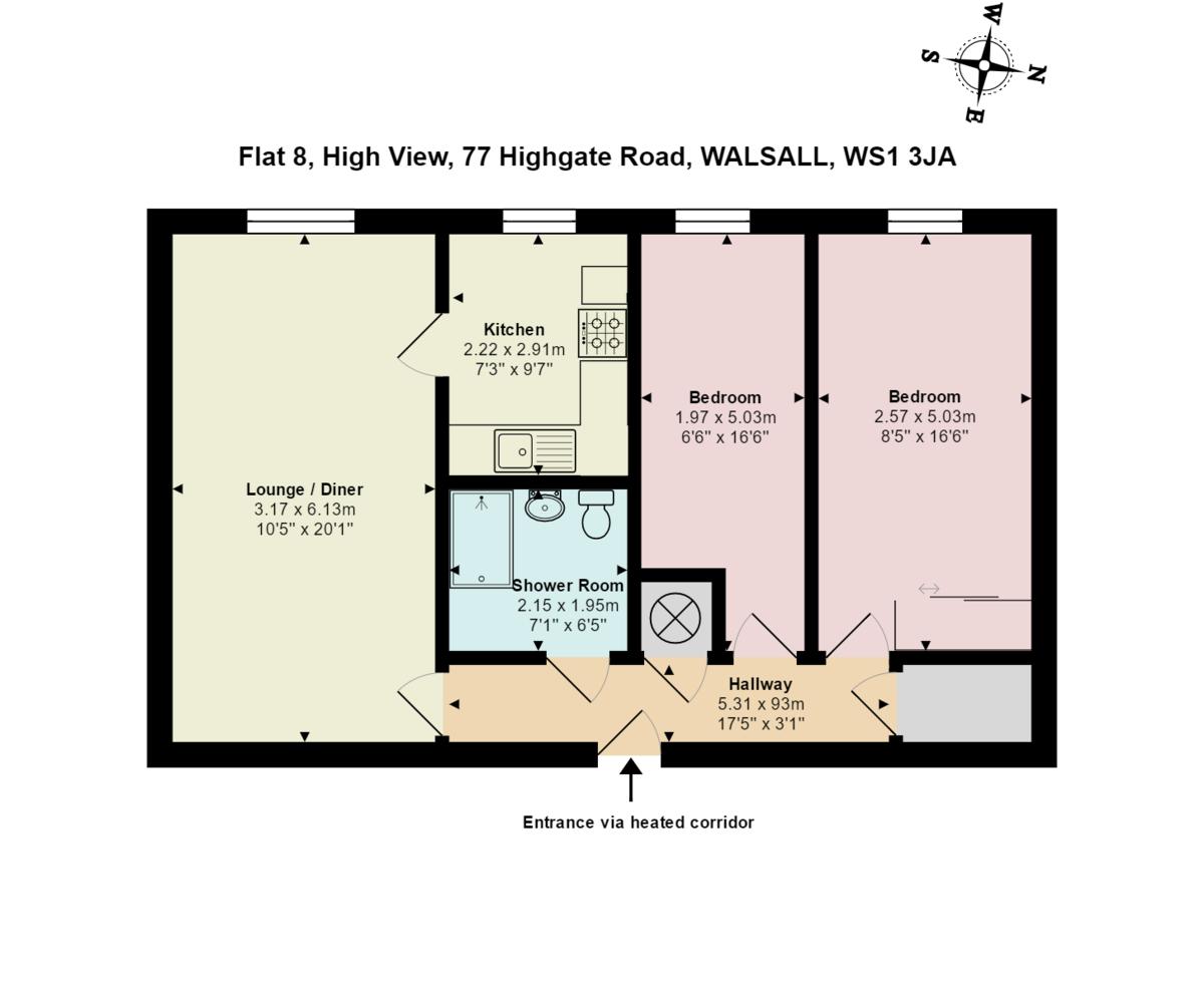 Highgate Road, Walsall Floorplan