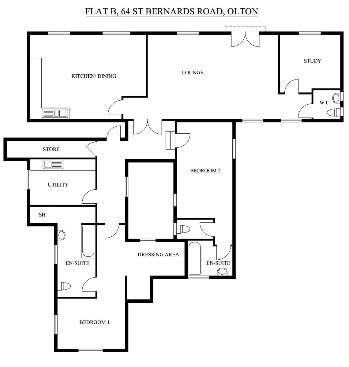 Kineton Lodge, St Bernards Road, Solihull, B92 7BA Floorplan