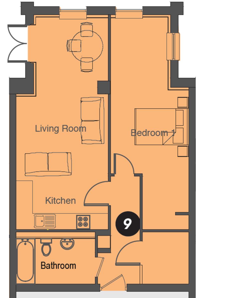 Apt 3, Olton Court, 10 Warwick Road Floorplan