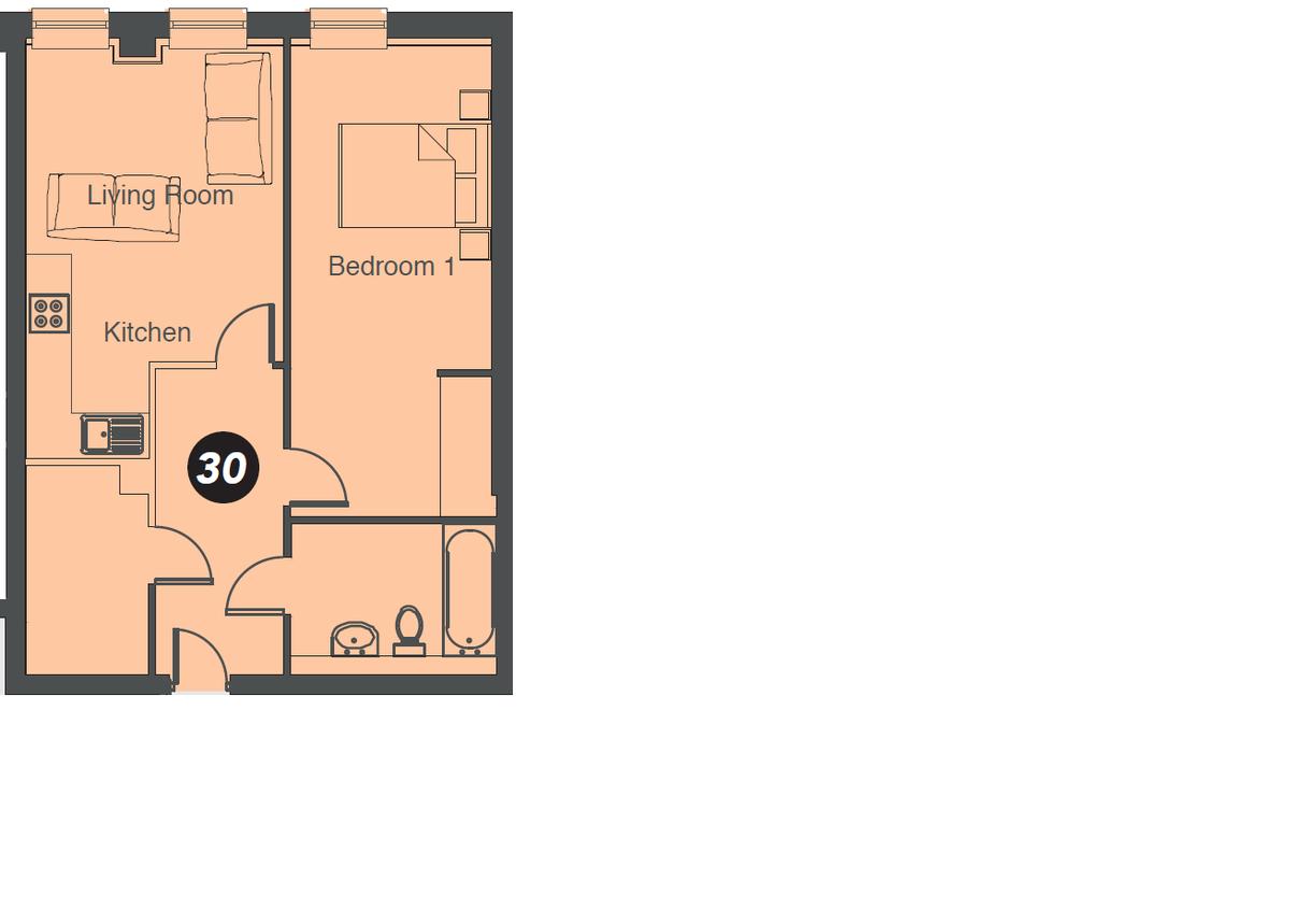 Olton Court, Apt 27, 10 Warwick Road Floorplan