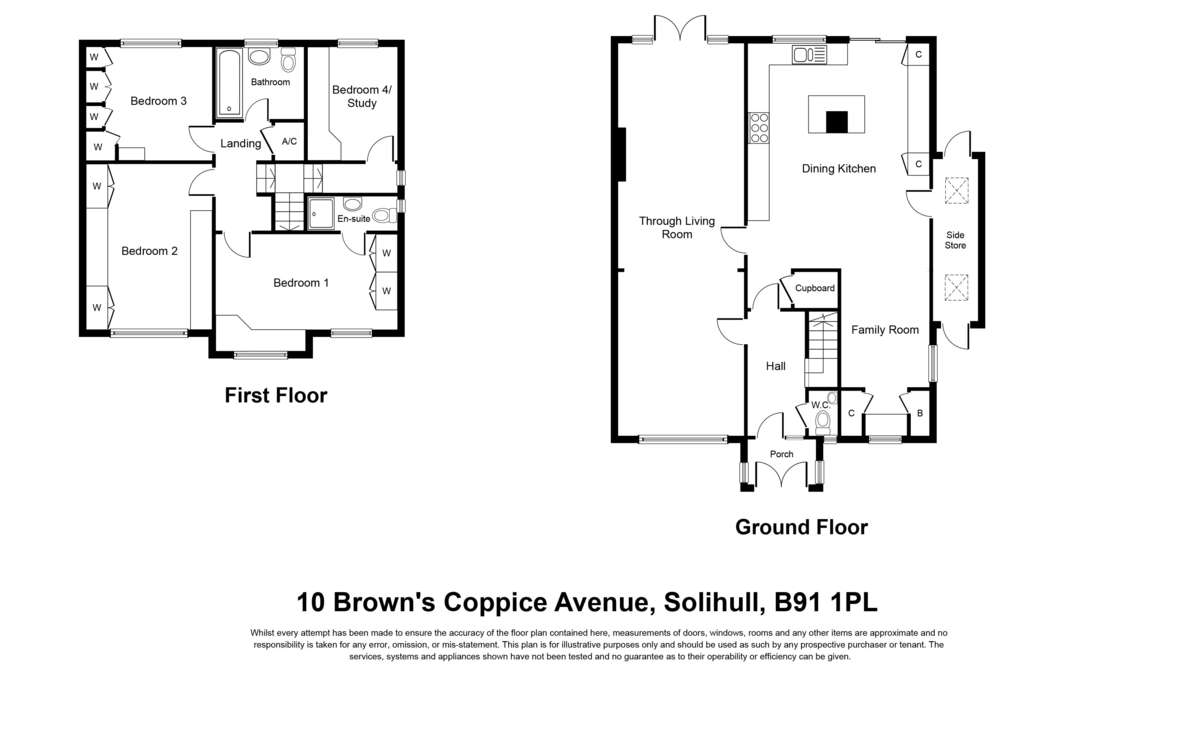 Browns Coppice Avenue, Solihull Floorplan
