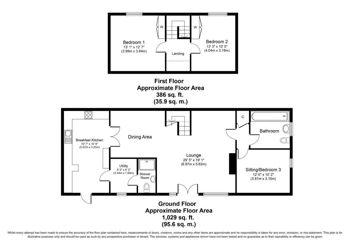 The Fairways Barn, Green Lane, Middleton, B78 2BJ Floorplan