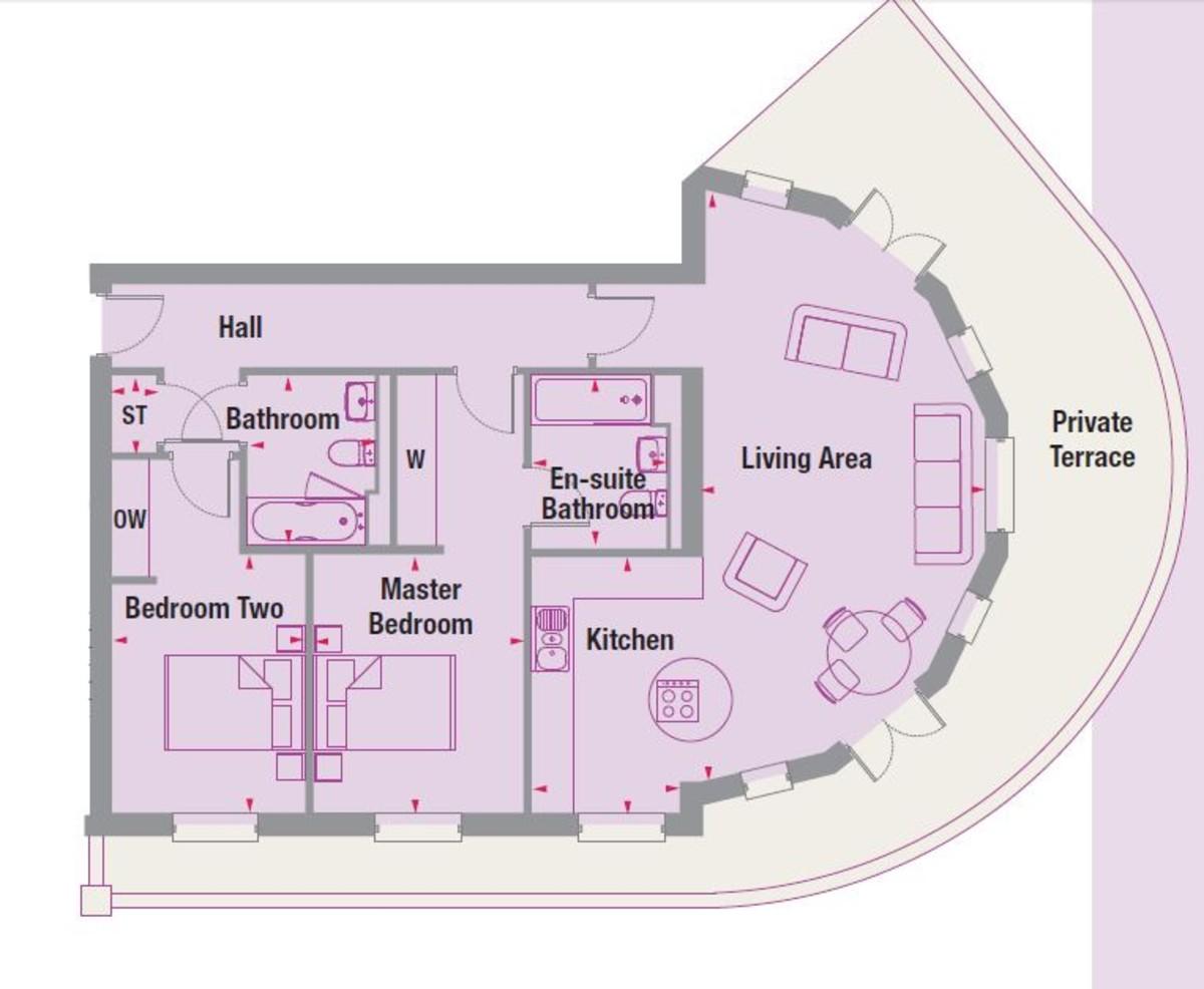 Boughton Court, Apt 1, Dickens Heath Floorplan