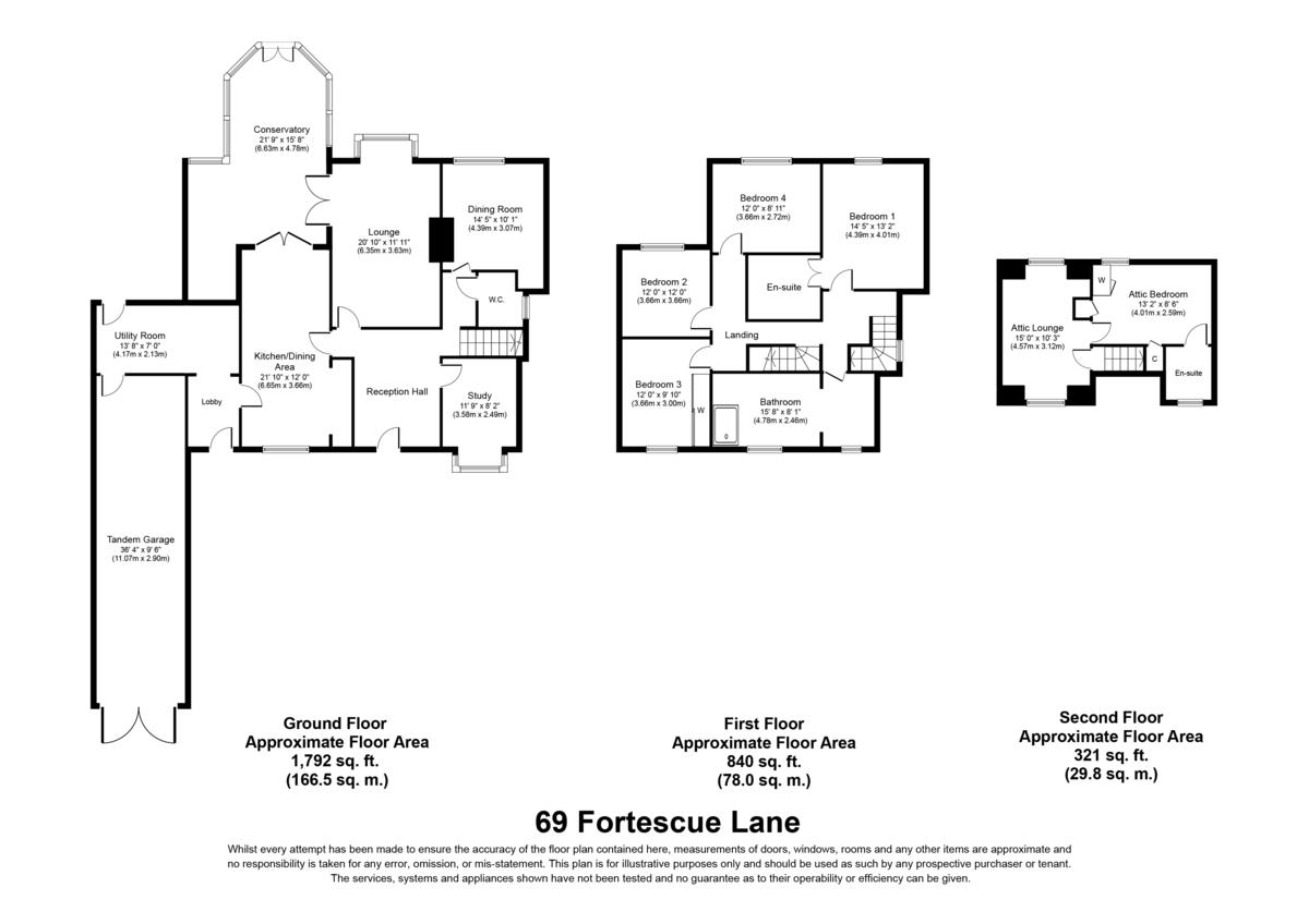Fortescue Lane, Rugeley Floorplan