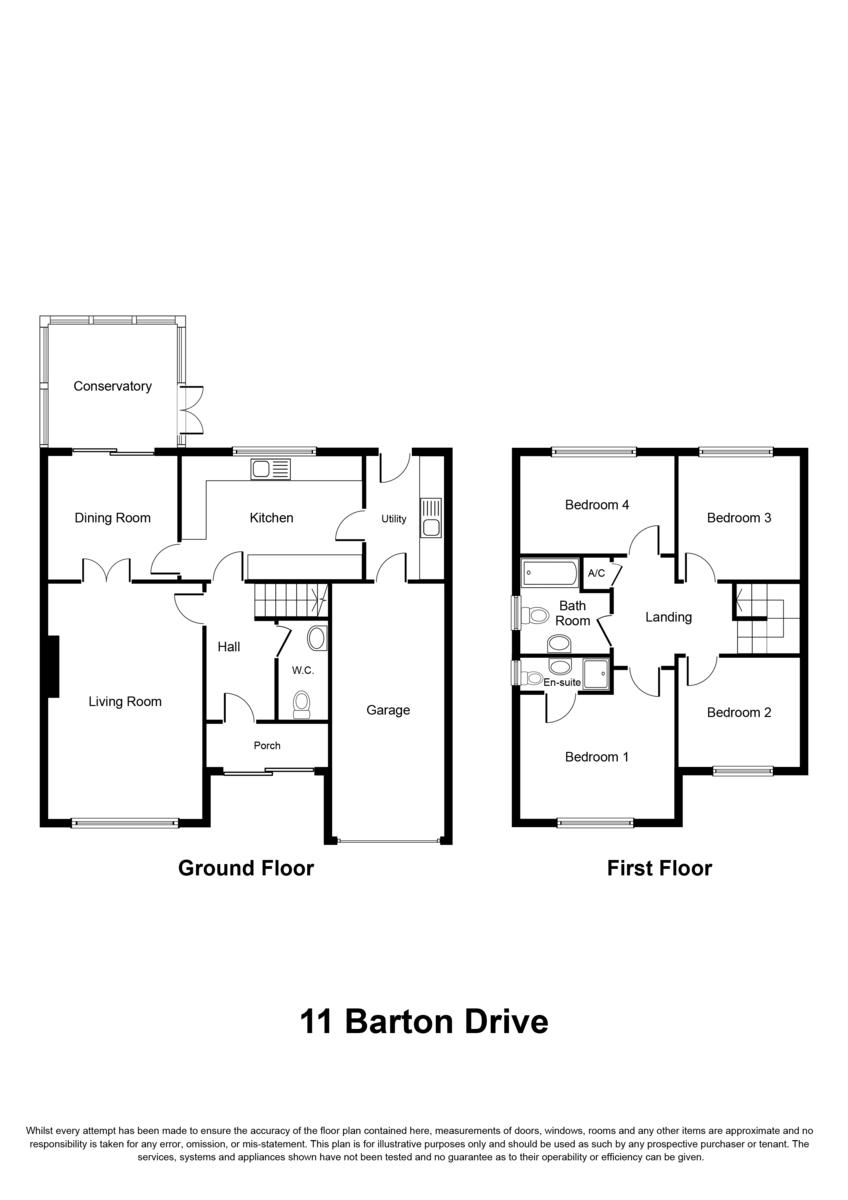 Barton Drive, Knowle, Solihull Floorplan