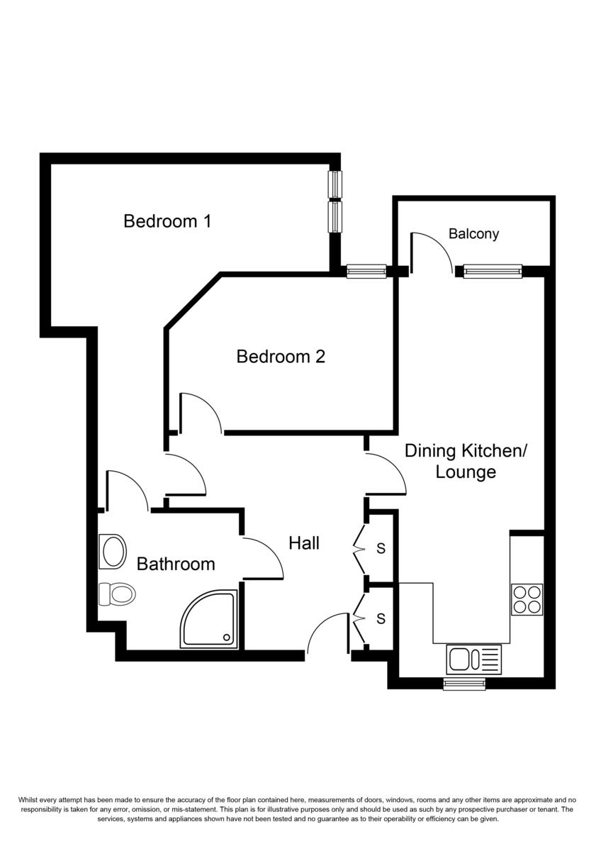 Trinity Apartments, Shirley Floorplan