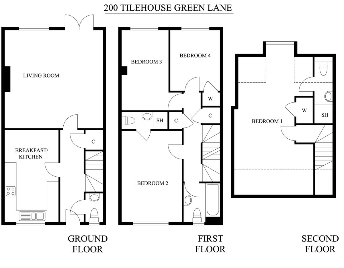 Tilehouse Green Lane, Knowle, Solihull Floorplan