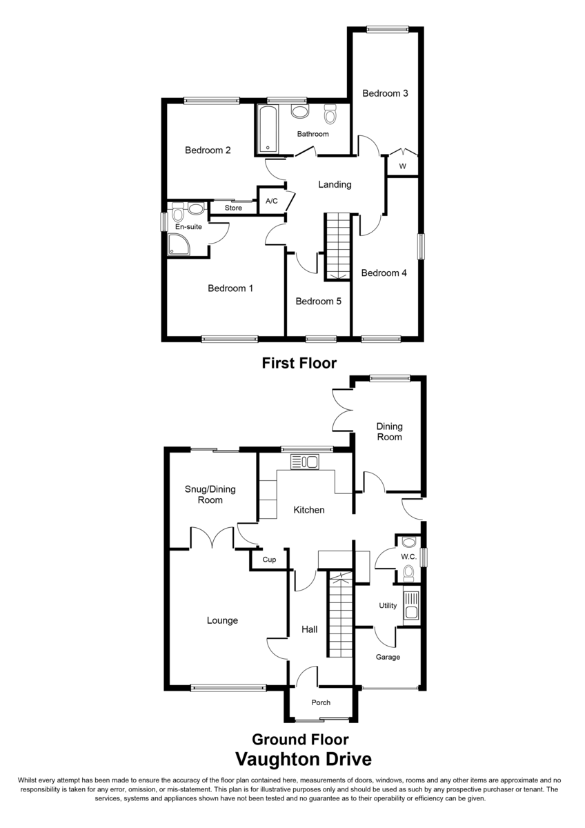 Vaughton Drive, Sutton Coldfield, B75 6AQ Floorplan