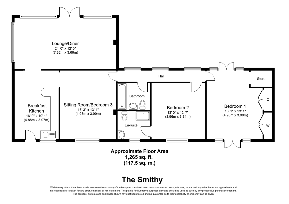 The Smithy, Wychnor, DE13 8BY Floorplan