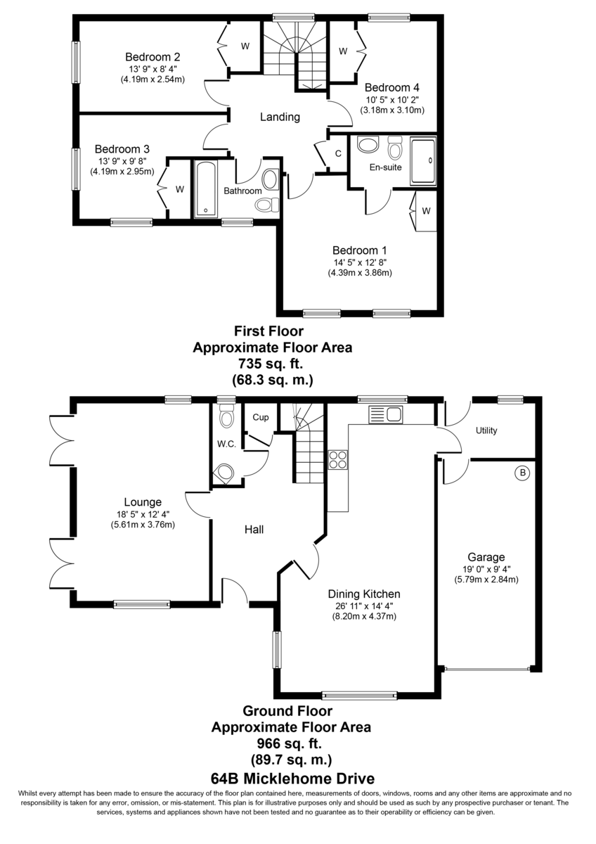 Micklehome Drive, Alrewas Floorplan