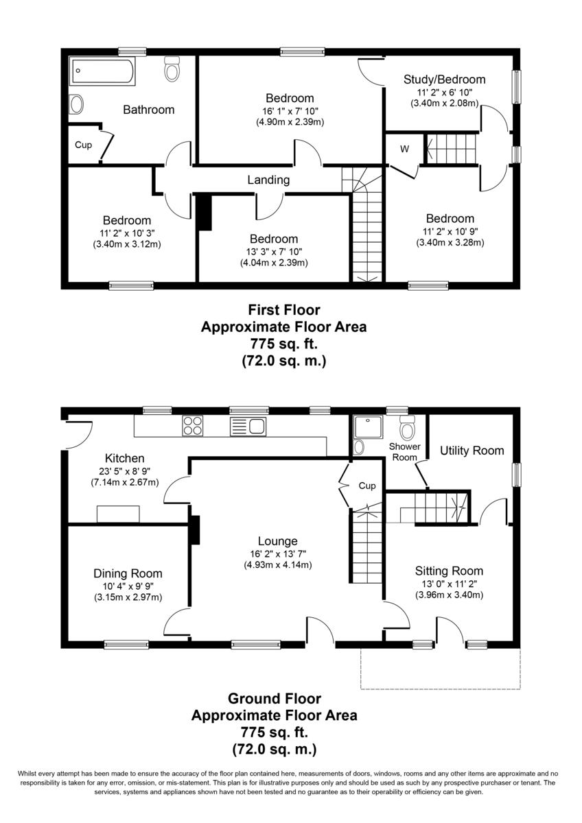 Rose Cottage, Lichfield Street, Fazeley,B78 3QE Floorplan