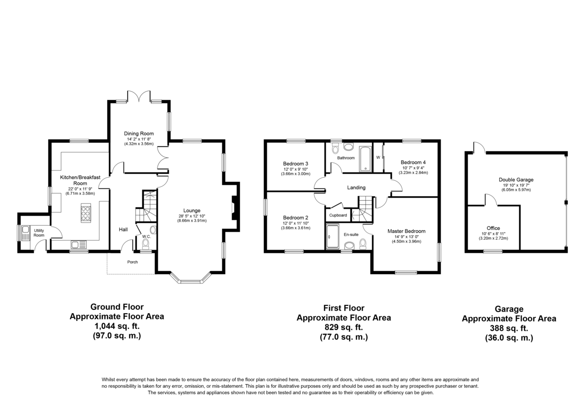 Manor View, Church Lane, Chilcote, Nr Tamworth, DE12 8DL Floorplan