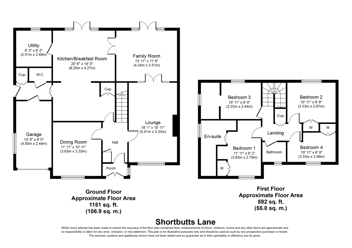 Shortbutts Lane, Lichfield Floorplan