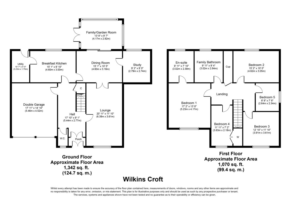 Wilkins Croft, Alrewas Floorplan