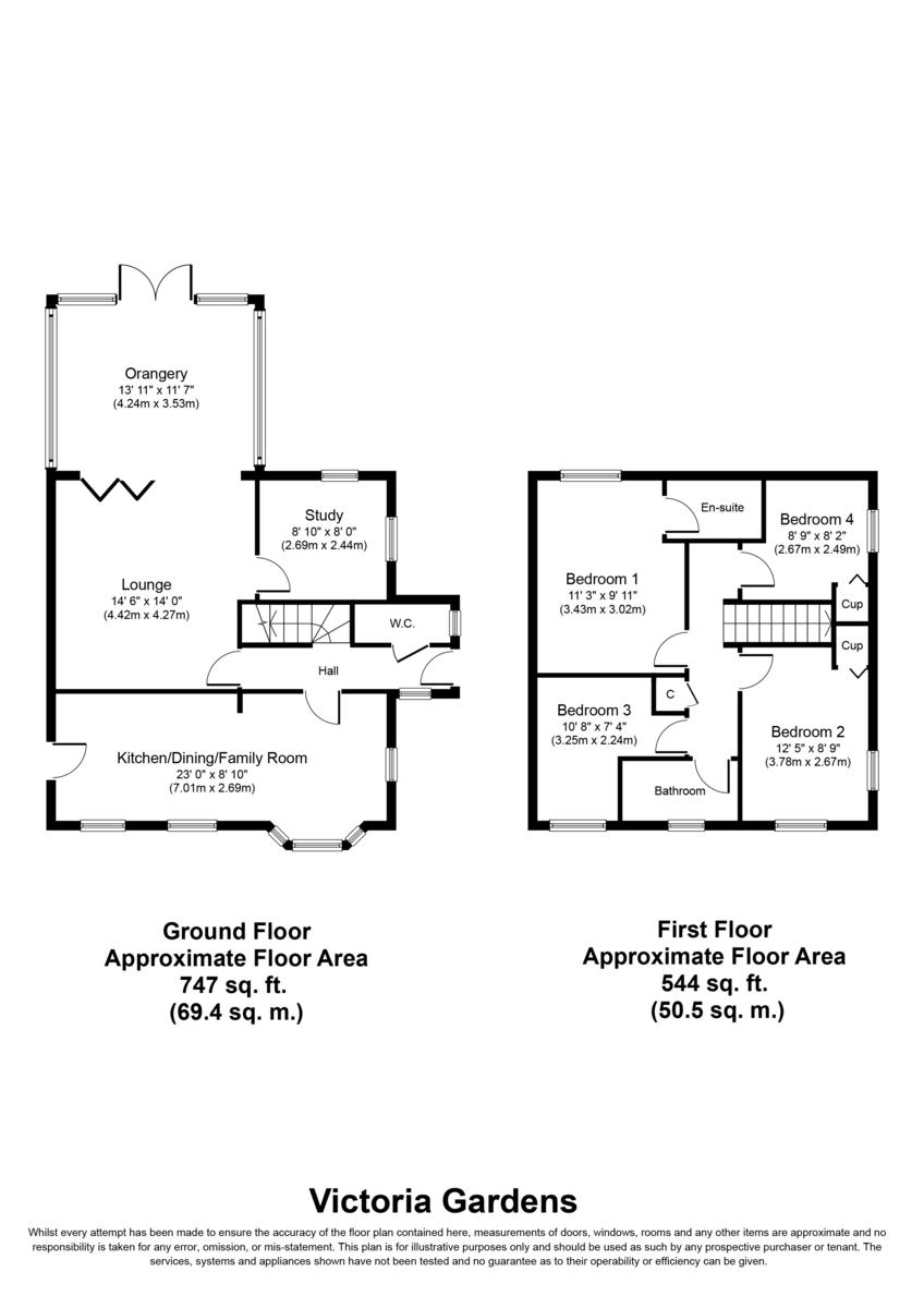 Victoria Gardens, Lichfield Floorplan