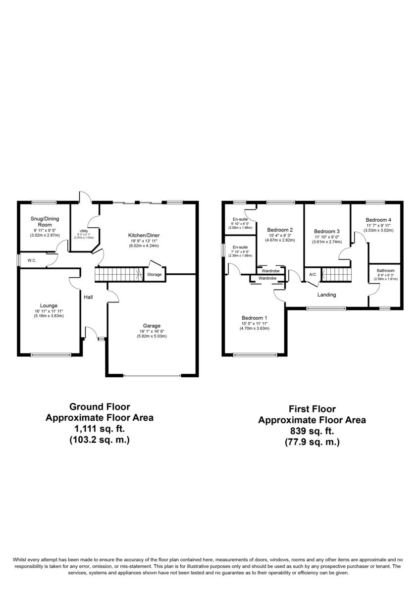Wensleydale, Wilnecote, Tamworth, B77 4PS Floorplan