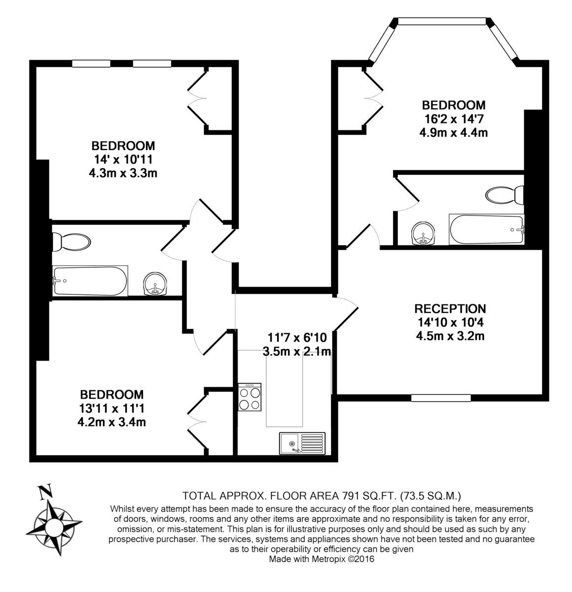 Christchurch Road, Tulse Hill Floorplan