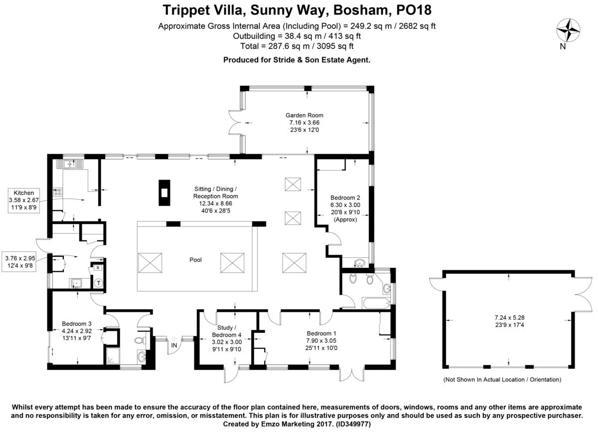 Sunnyway, Bosham Floorplan