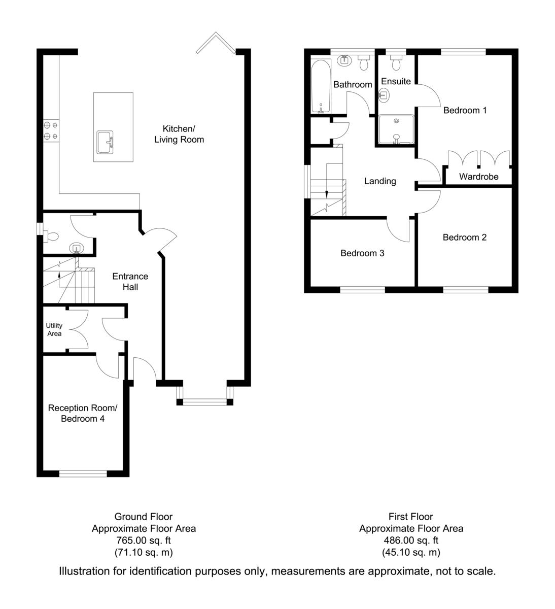 Gunthorpe Close, Oakham Floorplan
