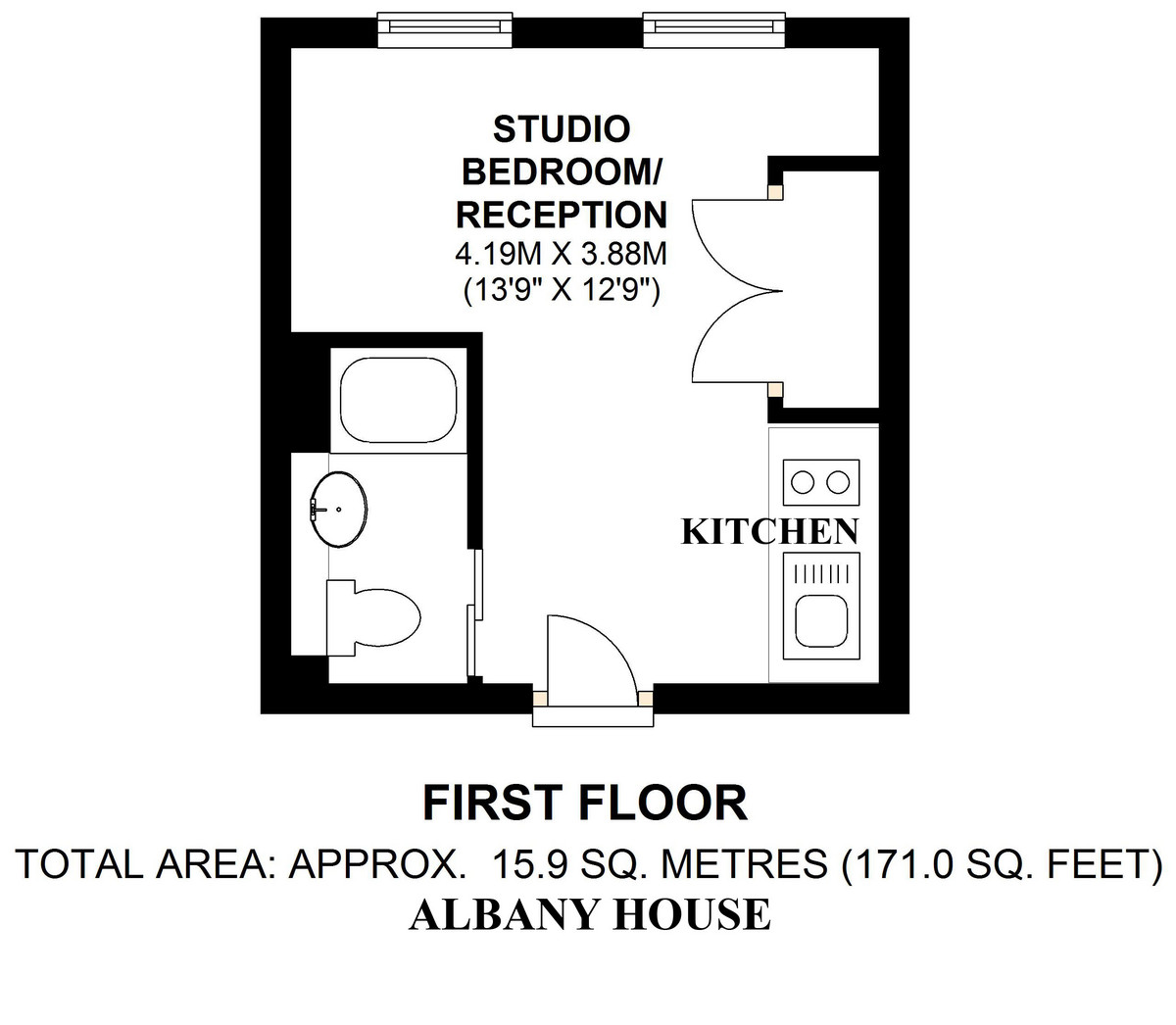 Albany House, Judd Street, WC1H Floorplan
