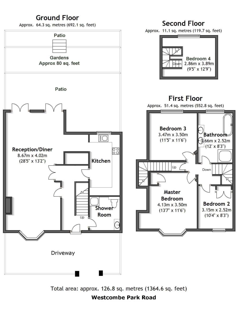Westcombe Park Road, Blackheath, London, SE3 Floorplan