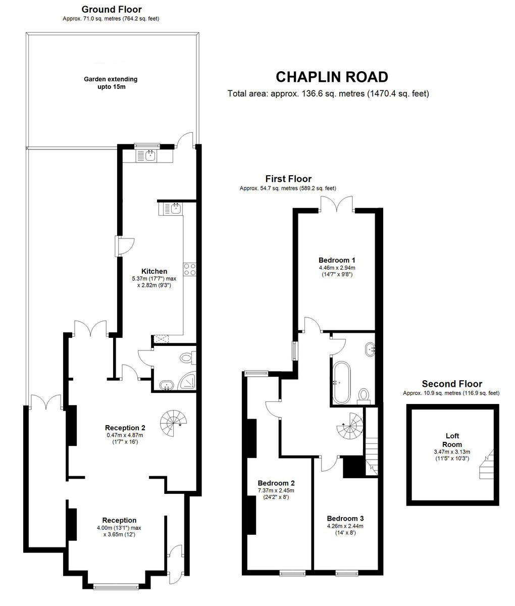 Chaplin Road, Wembley Central, HA0 Floorplan