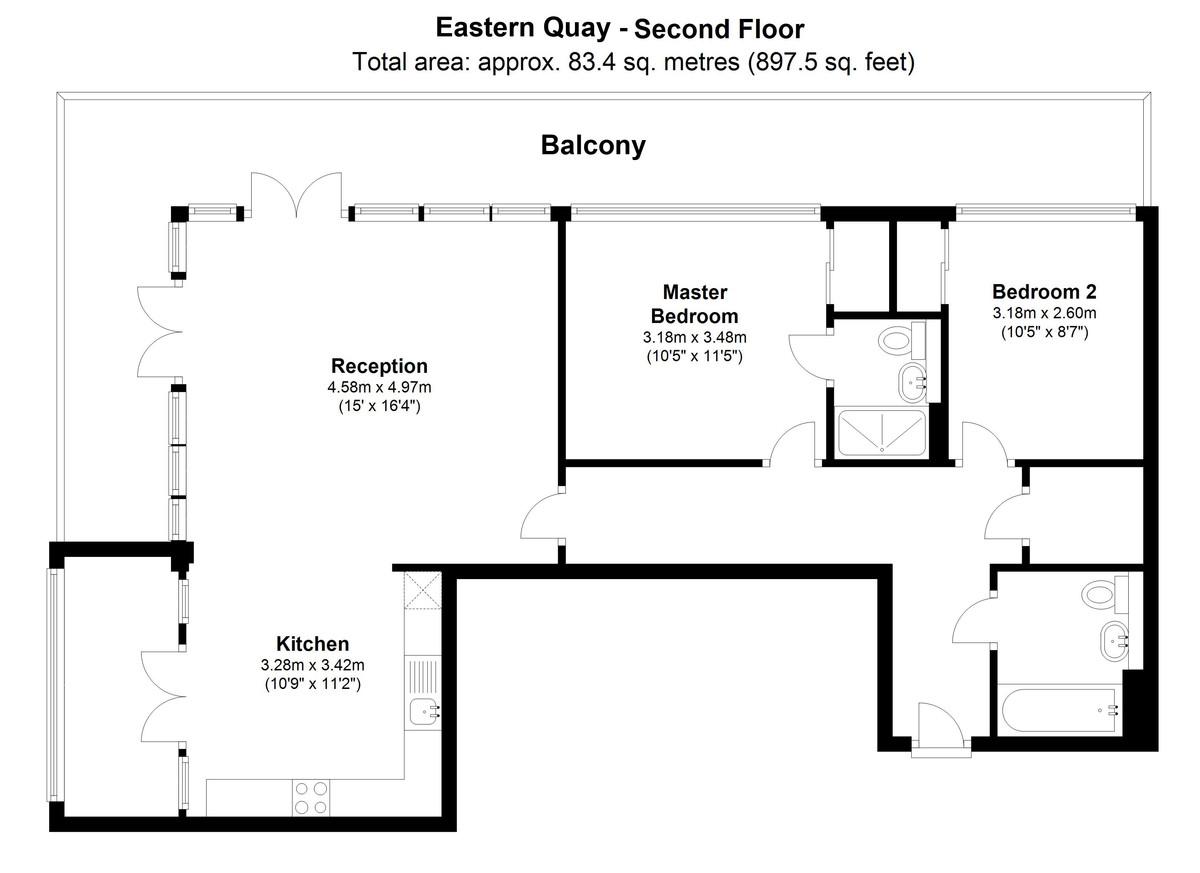 Eastern Quay, West Silvertown. London, E16 Floorplan
