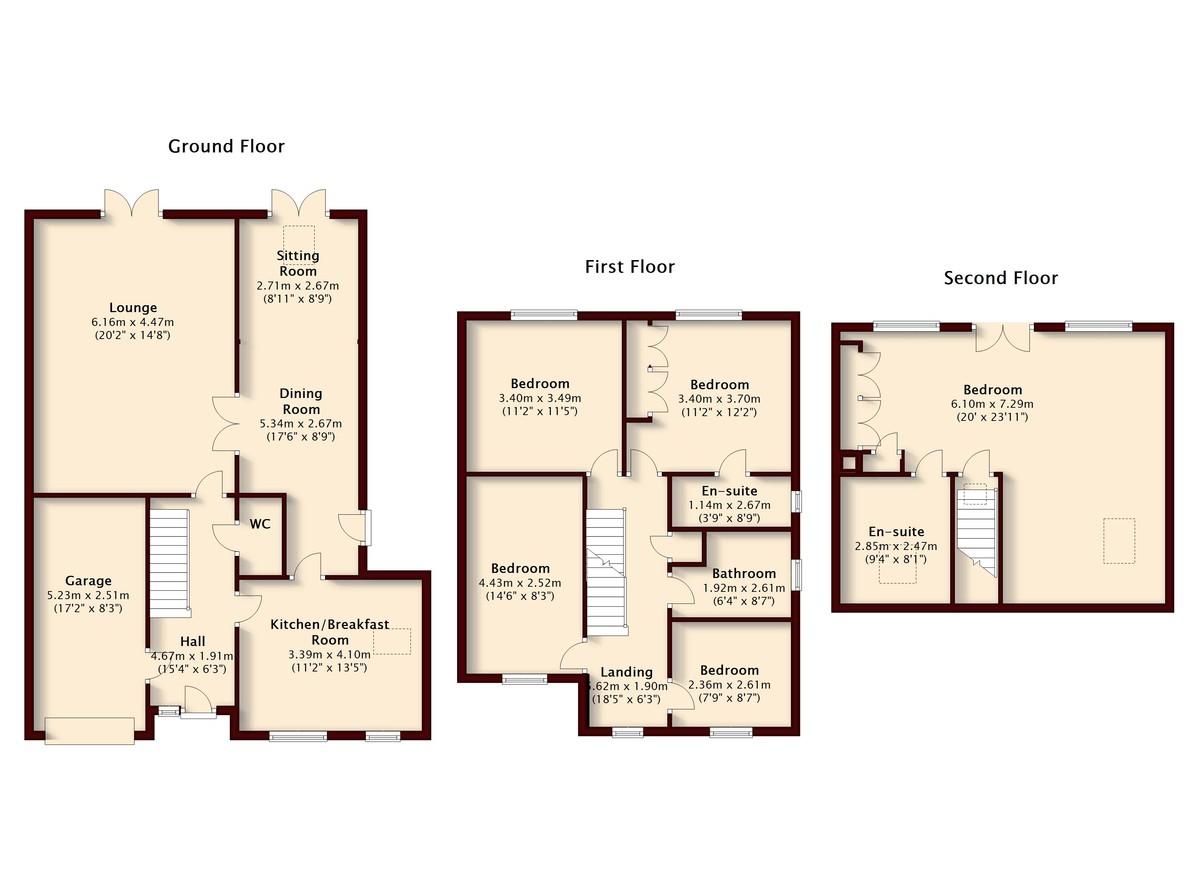 Brentnall Close, Long Eaton Floorplan
